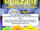 Light Party 31st October 4-6pm