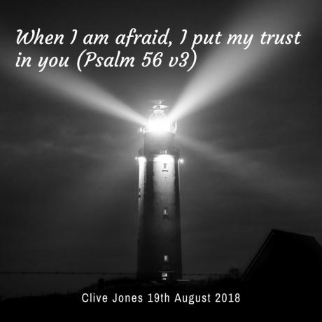 When I am afraid I will put my trust in God