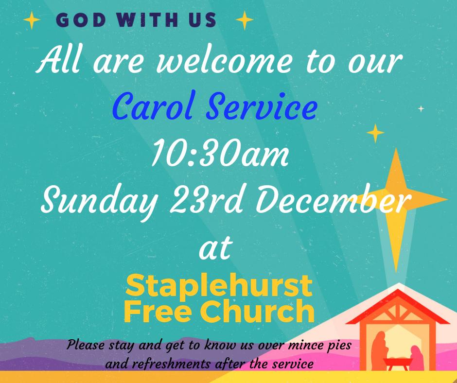 Carol Service 23rd December 10:30am